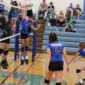 8th grade girls' volleyball vs Perryville 9/14/2017