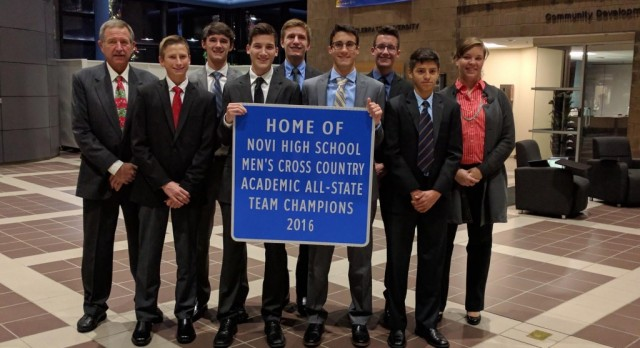 MEN'S CROSS COUNTRY–ACADEMIC STATE CHAMPIONS