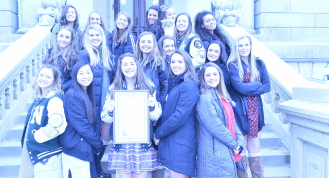 Novi Volleyball Recognized at State Capitol