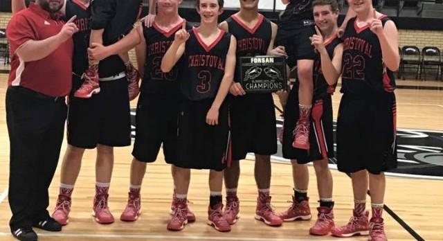 JV Cougars Win Forsan Tournament