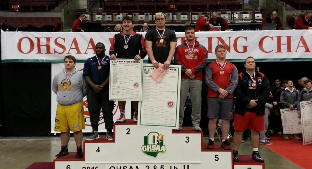 ST.CLAIRSVILLE'S MICHAEL FURBEE FINISHED 5TH-2016 STATE WRESTLING TOURNAMENT