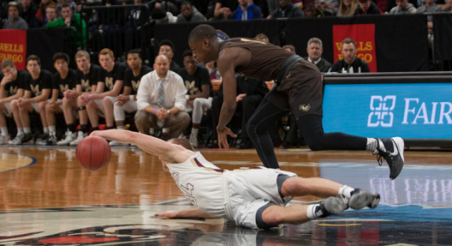Boys Basketball: Bloody and Bruised; Fall to Apple Valley in Semifinals
