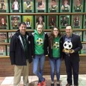 Sponsors Thanked with Gift from Girls Soccer Team