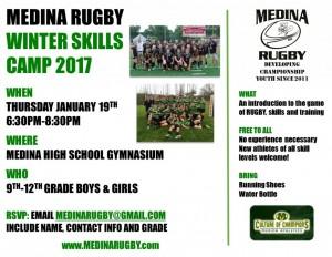 Medina Rugby Skills Camp Flyer
