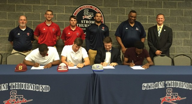 Four Rebel Athletes Sign To Play Ball At Next Level