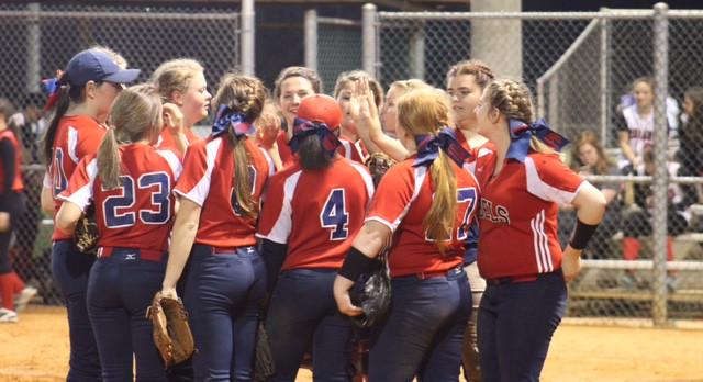 Rebels Varsity Softball beat Greenwood High School 10-5