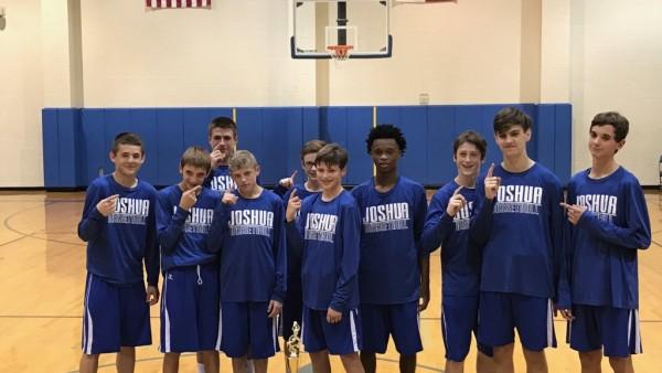 8th boys basketball tournament champs joshua owls joshua high