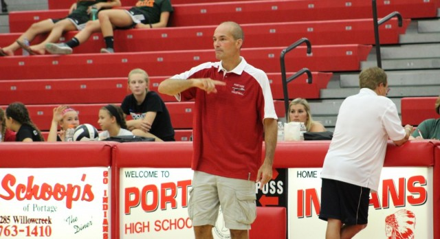 NWI Times Article:  Bontrager starts senior year at Valpo, her father takes over Portage