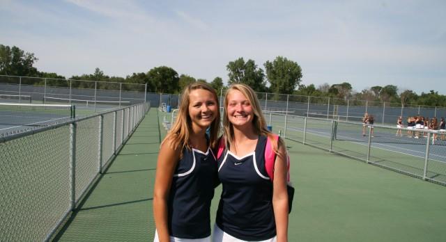 Saints Tennis wins 2 on Northern Trip
