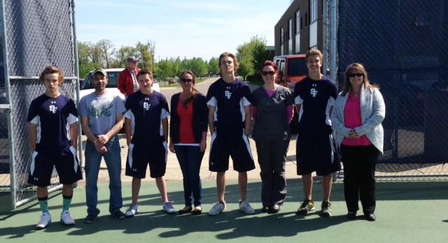 Saint Francis High School Boys Varsity Tennis beat North Branch High School 7-0