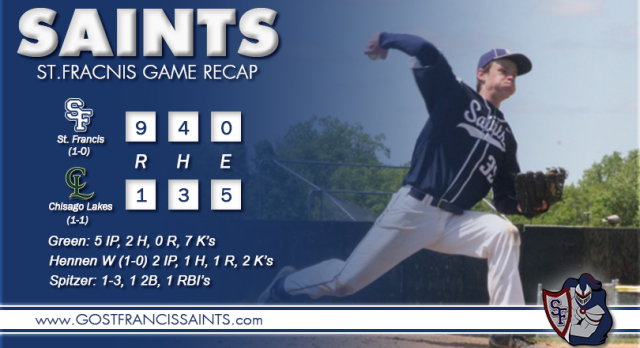 Game Recap Saints Win  9-1