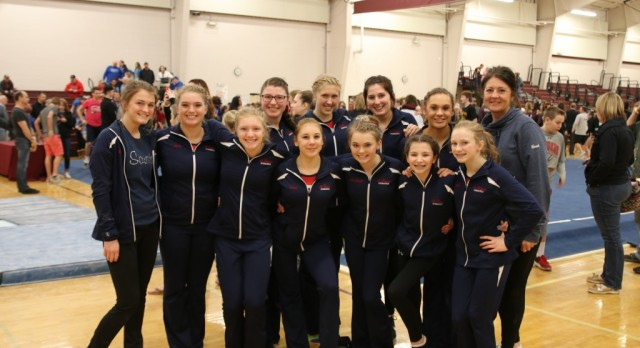 Saints Gymnastics Takes 4th at 7AA Sections, Felicia Bartell Moves on to State, Team Claims Academic Champion