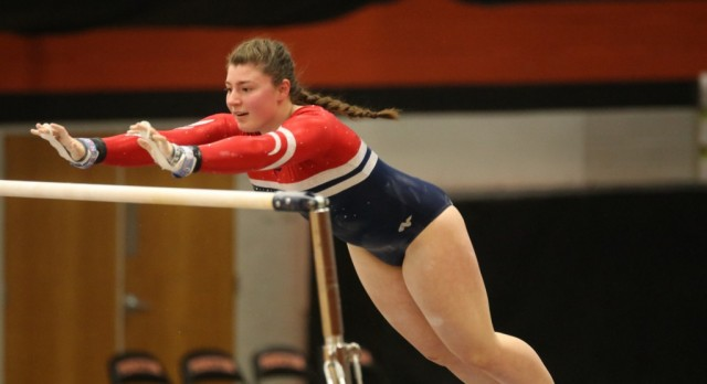 Saints Gymnastics Keeps their Momentum Going with a Win against Princeton