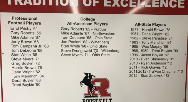 Football Legacy Honored in the Stadium Locker Room