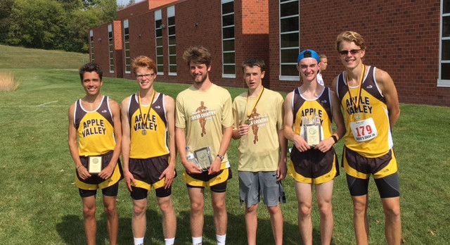 Apple Valley High School Boys Varsity Cross Country finishes 3rd place