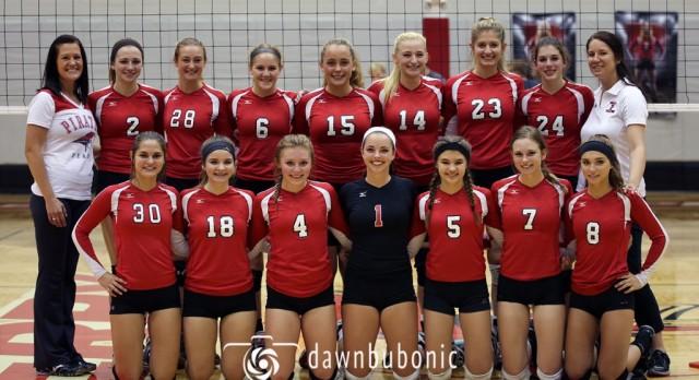 Perry High School Girls Varsity Volleyball beat Wickliffe City Schools 3-1