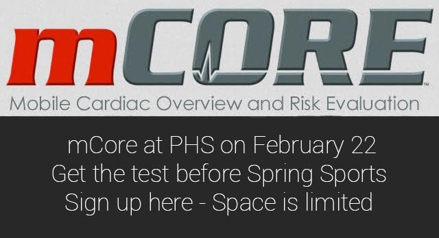 Sign Up by Wednesday! mCore at PHS Feb. 22