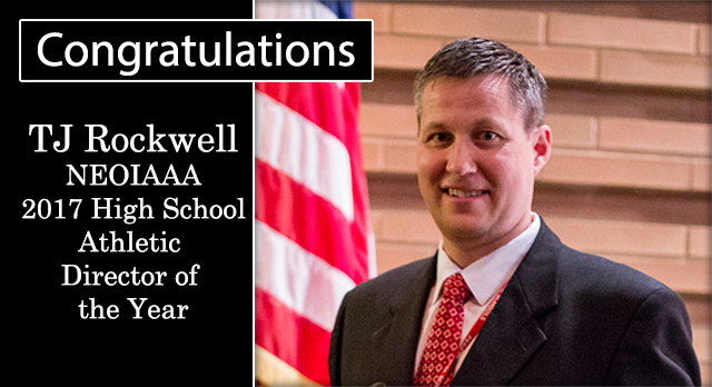 TJ Rockwell NEOIAAA Athletic Director of the Year
