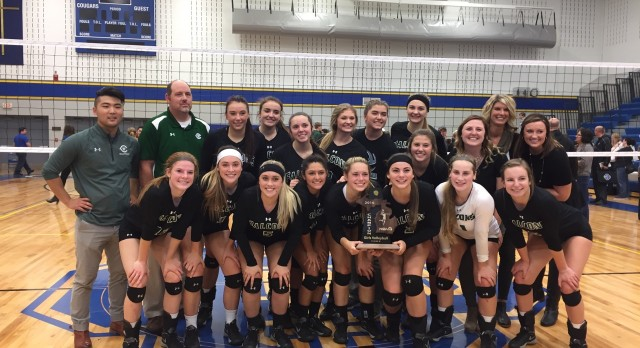 West Catholic High School Girls Varsity Volleyball beat Grand Rapids Catholic Central High School 3-1