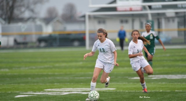Freeland High School Girls Varsity Soccer beat Midland Dow H.S. 5-2