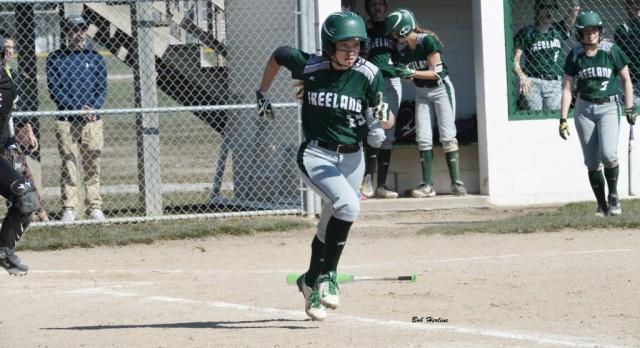 Freeland High School Varsity Softball beat Heritage High School 13-5
