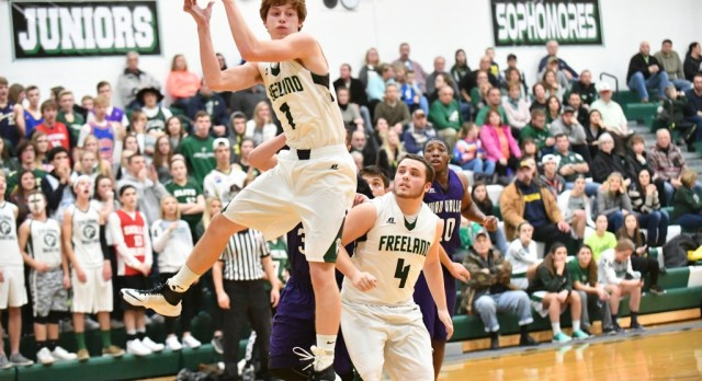 Freeland High School Boys Varsity Basketball beat Swan Valley High School 61-41