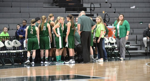 Varsity Girls Basketball Ends Season in East Lansing