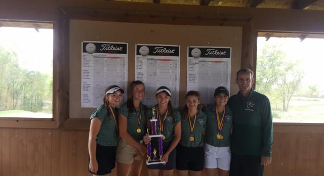 Girls Golf Finish #1 at Byron Invitational