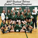 10-25-17 -FREELAND FALCONS VOLLEYBALL – CENTRAL DIVISION CHAMPIONS