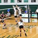 10-2-17 – VARSITY VOLLEYBALL – QUAD MEET – FREELAND FALCONS  – BIRCH RUN PANTHERS -HARRISON YELLOW JACKETS