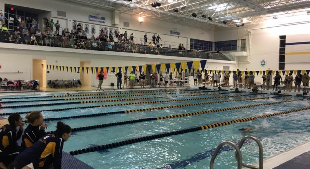 Oxford High School Girls Varsity Swimming beat Stoney Creek High School 95-91