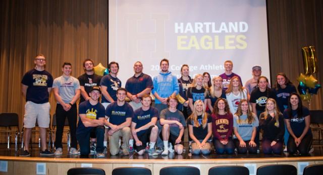 Hartland Athletics Celebrates HHS Athletes moving on to the College Level