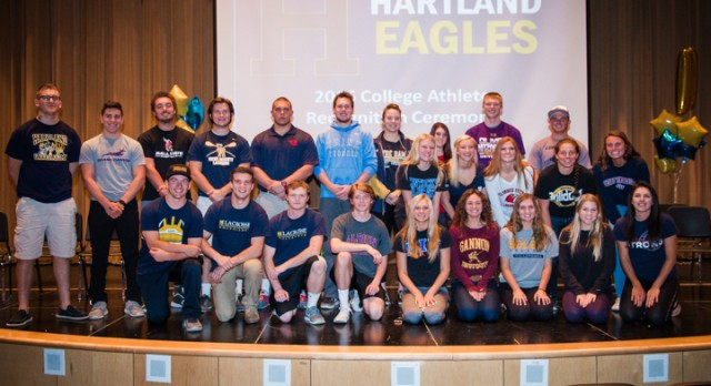 31 Hartland Eagles will play at the collegiate level