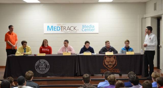 Six Seniors Honored for Committing to Collegiate Athletics
