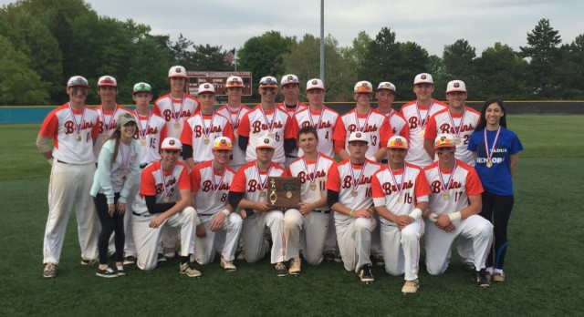 Wisniewski throws a one hitter to Seal the District Champipnship for Bruins