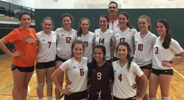 Padua Franciscan High School Girls Junior Varsity Volleyball beat NotreDame-Cathedral Latin 2-0