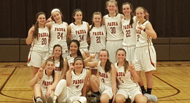 Girls Varsity Basketball beat Archbishop Hoban High School 57-48; Claim Share of NCL Blue Division Title