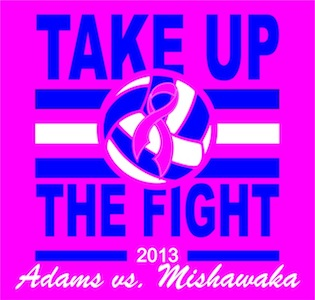 "ADAMS VOLLEYBALL ""PINK OUT"" GAME"