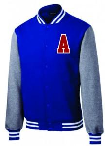 Fleece Lettermen Style Jacket