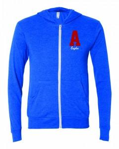 Full Zip Lightweight Sweatshirt