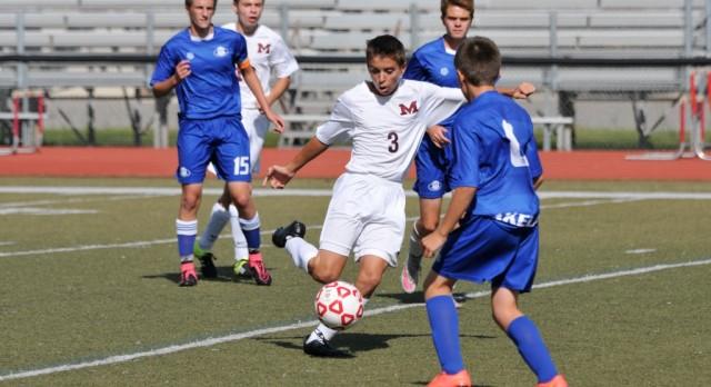 Milford High School Boys Varsity Soccer beat South Lyon High School 3-2