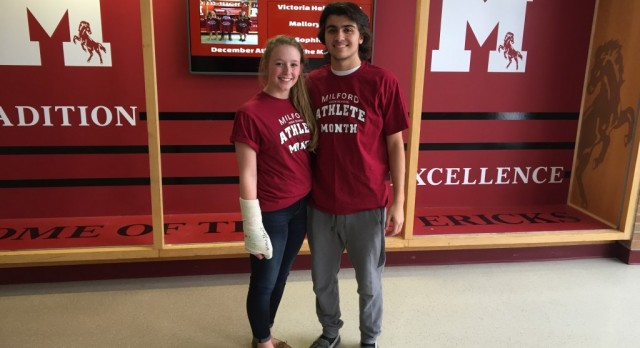 Milford High School January Athlete of Month