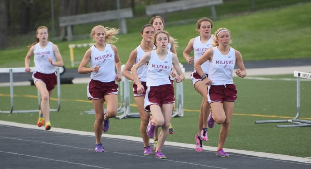 Milford High School Girls Varsity Track finishes 1st place