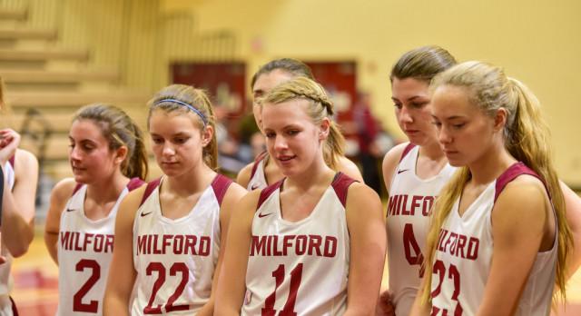 Milford High School Girls Varsity Basketball beat Grand Blanc High School 56-48