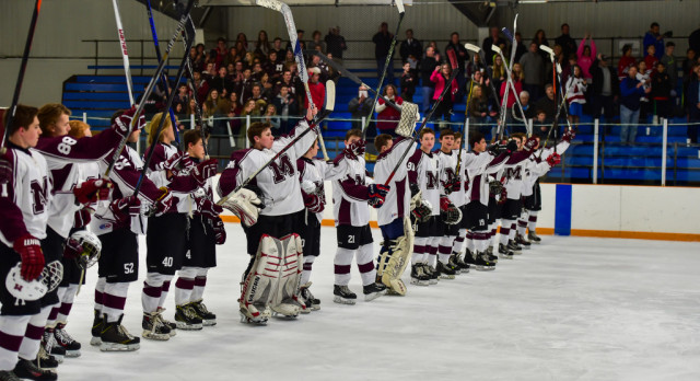 Milford High School Boys Varsity Hockey beat Grand Blanc High School 8-2