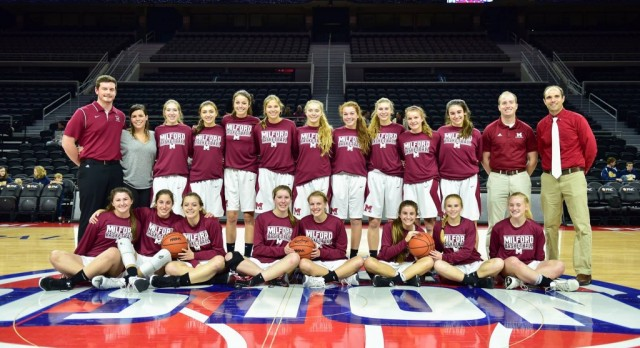 Milford Girls Basketball Academic All-State; Barrett Individual Academic All-State
