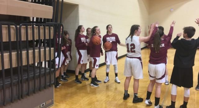 Milford High School Girls Varsity Basketball beat Livonia Franklin 62-22