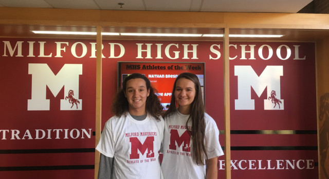 STS Athletics Student Athletes of the Week  – Nathan Bresnay and Maddie Appleton