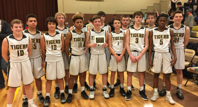 Eighth Grade Boys Win Conference Tournament; Finish 13-0 on the Season