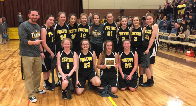 Seventh Grade Girls Complete Perfect Season; Win Conference Basketball Title